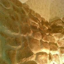 Имитация Каменной кладки из гипсовой штукатурке с последующей покраской
