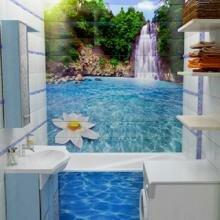 арт-плитка в интерьере ванной