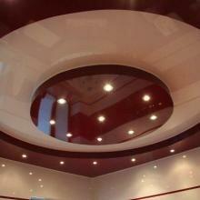 Многоуровневый потолок. Полотно-глянец.