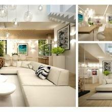 Архитектура, дизайн интерьера, дома, котеджи, хрустальный, 3D, визуализация